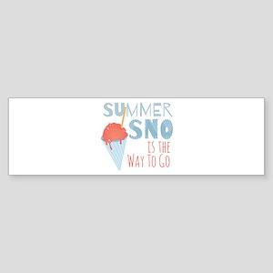 Summer Sno Bumper Sticker