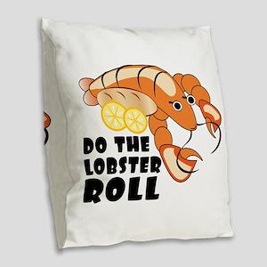 Lobster Roll Burlap Throw Pillow
