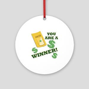 A Winner Round Ornament