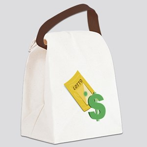 Lotto Ticket Canvas Lunch Bag