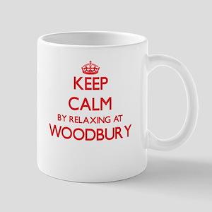 Keep calm by relaxing at Woodbury Massachuset Mugs