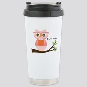 Cute Owl Reading Travel Mug