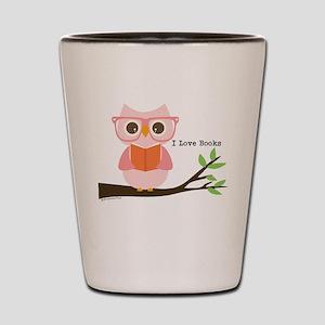 Cute Owl Reading Shot Glass