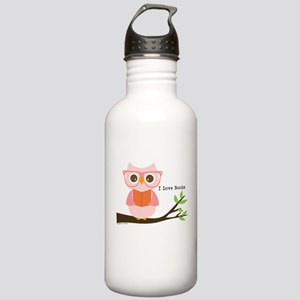 Cute Owl Reading Water Bottle