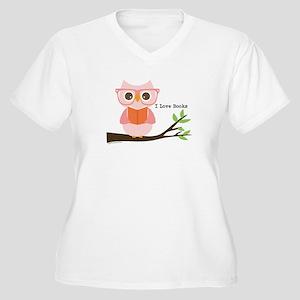 Cute Owl Reading Plus Size T-Shirt