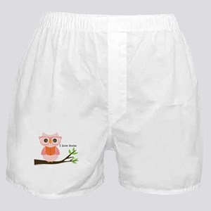 Cute Owl Reading Boxer Shorts