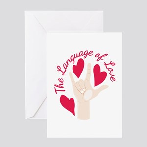 Language Of Love Greeting Cards