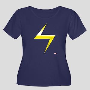 Ms. Marv Women's Plus Size Scoop Neck Dark T-Shirt