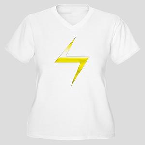 Ms. Marvel Bolt Women's Plus Size V-Neck T-Shirt