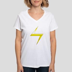 Ms. Marvel Bolt Women's V-Neck T-Shirt