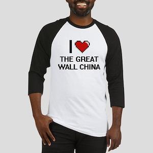 I love The Great Wall China digita Baseball Jersey