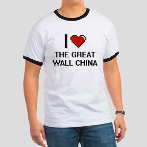 I love The Great Wall China digital design T-Shirt
