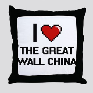 I love The Great Wall China digital d Throw Pillow