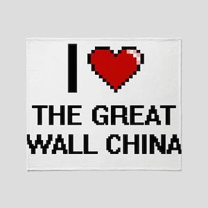 I love The Great Wall China digital Throw Blanket