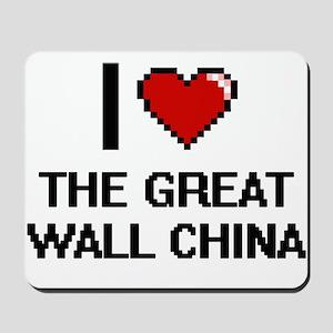I love The Great Wall China digital desi Mousepad