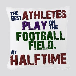 The Best Athletes Woven Throw Pillow
