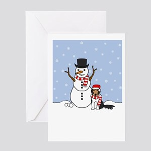 Sheltie Winter Holiday Greeting Card