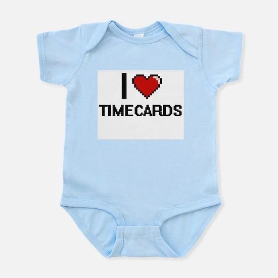 I love Timecards digital design Body Suit