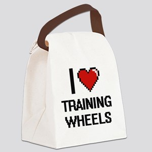 I love Training Wheels digital de Canvas Lunch Bag