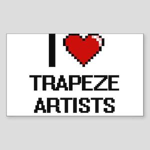 I love Trapeze Artists digital design Sticker