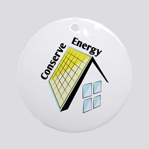 Conserve Energy Round Ornament