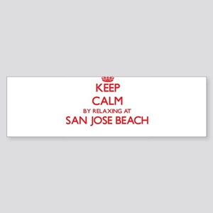 Keep calm by relaxing at San Jose B Bumper Sticker
