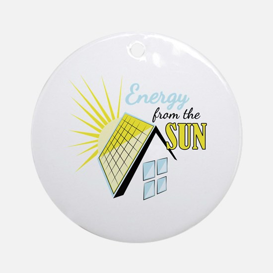 Energy From Sun Round Ornament