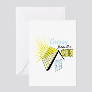 Energy From Sun Greeting Cards