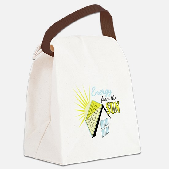 Energy From Sun Canvas Lunch Bag