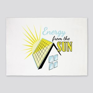 Energy From Sun 5'x7'Area Rug
