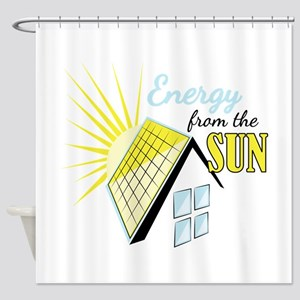 Energy From Sun Shower Curtain