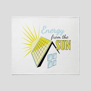 Energy From Sun Throw Blanket