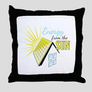 Energy From Sun Throw Pillow