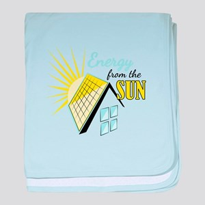 Energy From Sun baby blanket