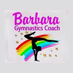 GYMNAST COACH Throw Blanket