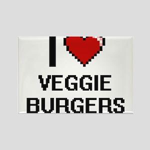 I love Veggie Burgers digital design Magnets
