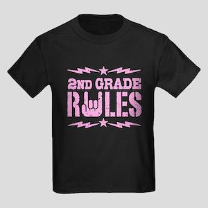 2nd Grade Rules Kids Dark T-Shirt
