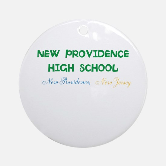 NEW PROVIDENCE HIGH SCHOOL, NP,NJ. Round Ornament