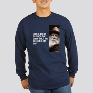 "Whitman ""As Bad As"" Long Sleeve Dark T-Shirt"