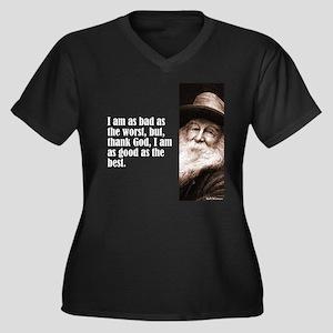 """Whitman """"As Bad As"""" Women's Plus Size V-Neck Dark"""
