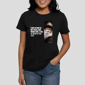 "Whitman ""As Bad As"" Women's Dark T-Shirt"