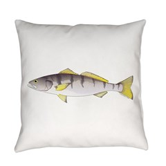 White Seabass Everyday Pillow