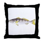White Seabass Throw Pillow