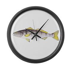 White Seabass Large Wall Clock