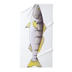 White Seabass Beach Towel