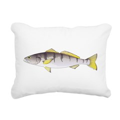 White Seabass Rectangular Canvas Pillow
