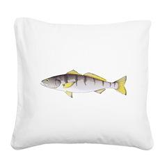 White Seabass Square Canvas Pillow