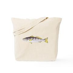 White Seabass Tote Bag
