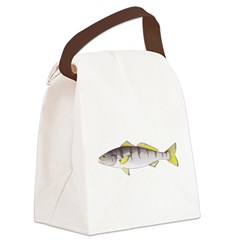 White Seabass Canvas Lunch Bag
