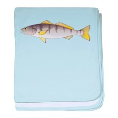 White Seabass baby blanket